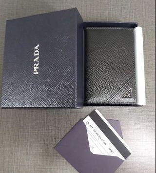 Prada Card Holder (black ) 3角形logo
