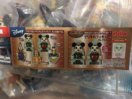 Disney 復古仿鐵皮扭蛋全套5款