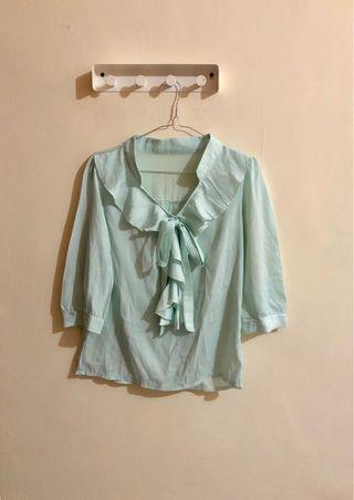 Mint blouse baju kerja