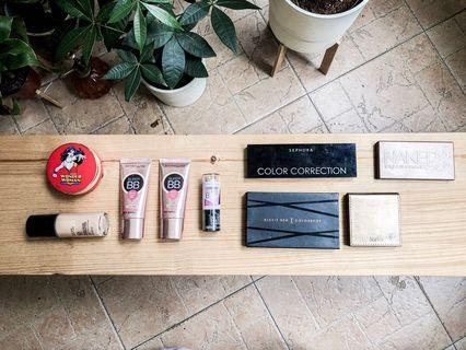 🚚 Eyeshadow Palettes, Bronzers, Highlighters, Foundation, Mascara, Lipsticks and Liquid Lipsticks Declutter ♥️