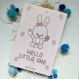 🚚 Hello Little One (Cute Pink or Grey Bunny)