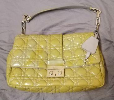 Dior shiny lambskin shoulder bag.
