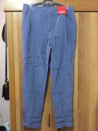 [ESPRIT] Women Blue Pleated Smart Trouser