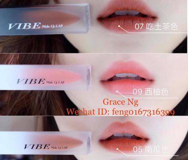 VIBE Lip Glaze with SHARP colours