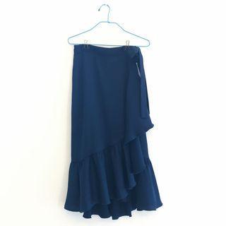 New BN NBW Midi Zara Side-tie Skirt with Ruffles