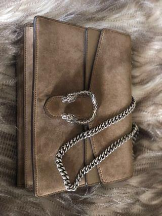 Authentic Gucci Dionysus Taupe Medium Bag