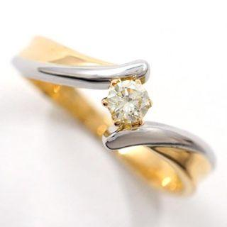 Diamond Solitaire Ring - 18k & Platinum