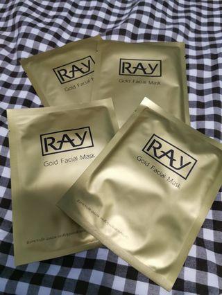 泰國Ray 金色蠶絲面膜 4片