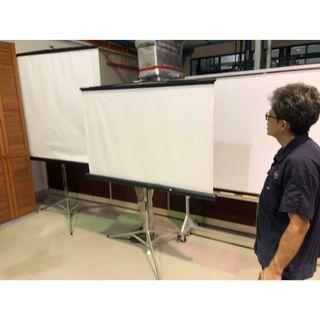 Projector Screen With Stand (2 PC's) @$80 each