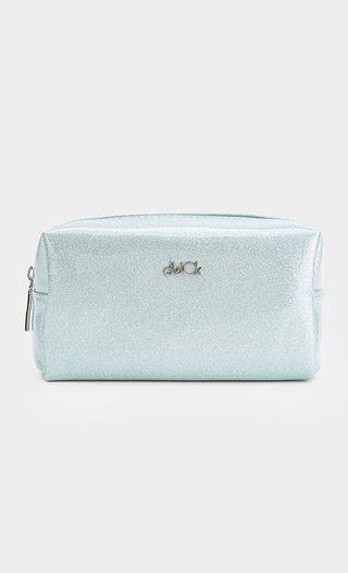 dUCk Cosmetics Pouch in Ice Blue Glitter
