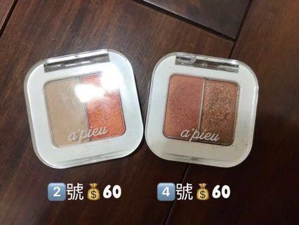 二手彩妝/a'pieu /missha/chifure/dior唇膏唇釉眼影