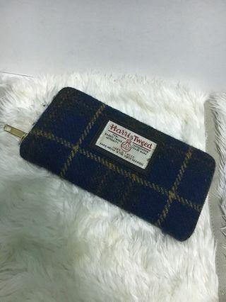 Harris tweed long wallet