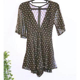 Avery the Label Black & Gold playsuit/romper - Size 10