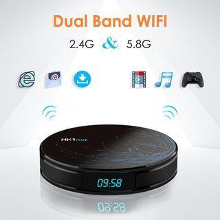Android tvbox HK1 Plus 4g/64g Oreo 8.1 UHD 4k