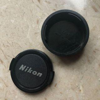 Nikon LENS front and rear cap (F mount) made in japan