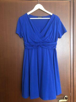 JEC Mothercot Royal Blue Maternity Nursing dress L