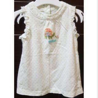 🚚 二手carter's女嬰9M可愛無袖上衣(9個月)