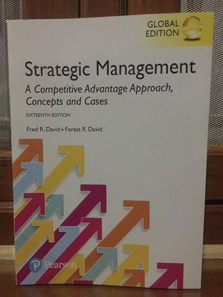 Buku Strategic Management Fred&Forest David New