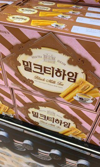 韓國Crown夾心威化餅(伯爵茶味)