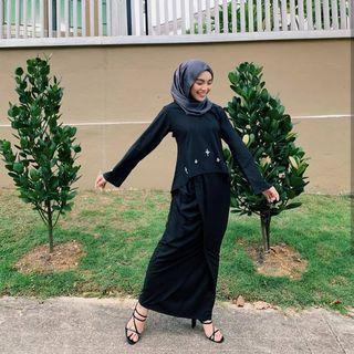 Ivy Kurung in Black
