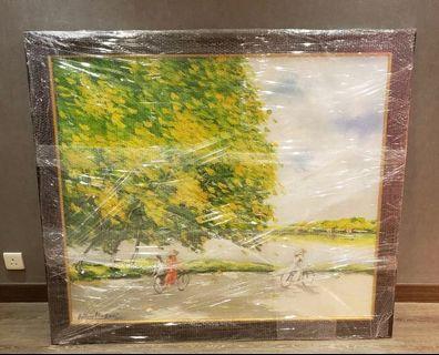 越南風景油畫一幅