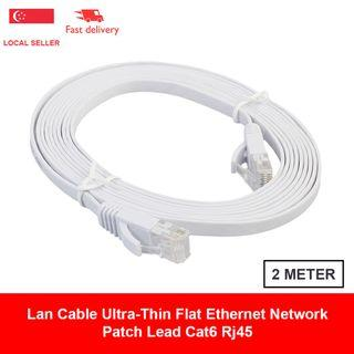 🚚 Lan Cable 2 Meter Ultra-Thin Flat Ethernet Network