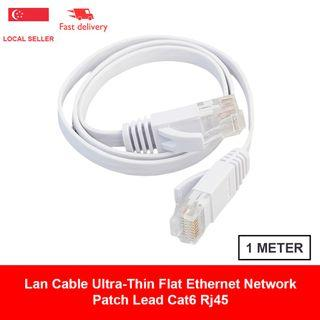 🚚 Lan Cable 1 Meter Ultra-Thin Flat Ethernet Network