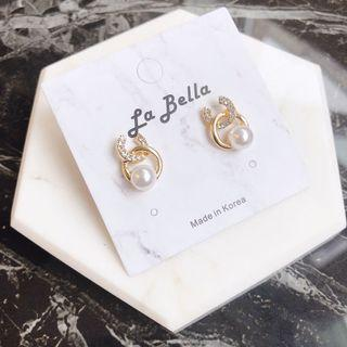 韓國氣質珍珠耳環
