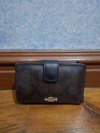 Coach corner zip wallet