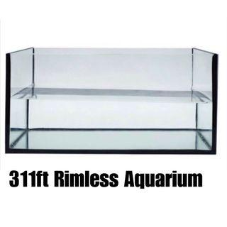 $60 36 by 12 by 12 INCH RIMLESS AQUARIUM
