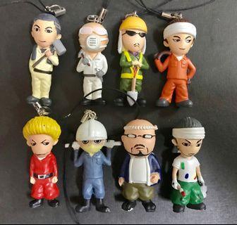 東京職人系列figure公仔吊飾全套