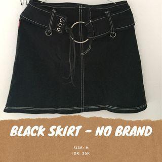 Black skirt cewe rok mini hitam