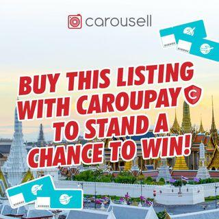 Buy this listing with CarouPay and stand a chance to win a pair of flight tickets to Bangkok!