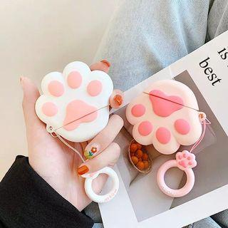 🚚 Cute Cat Paws pink and white Apple AirPods case