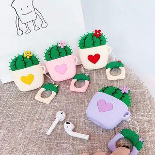 🚚 Korean cute love cactus apple AirPod case