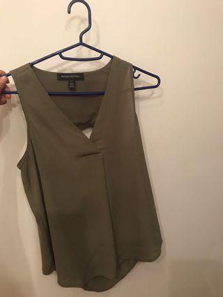 Banana Republic army green sleeveless top blouse