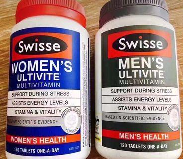 Swisse 女性/男性多元維他命120粒