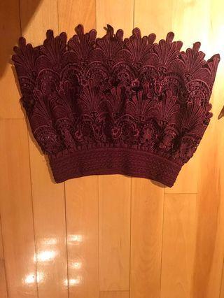 Forever 21 dark red / burgundy lace mini skirt