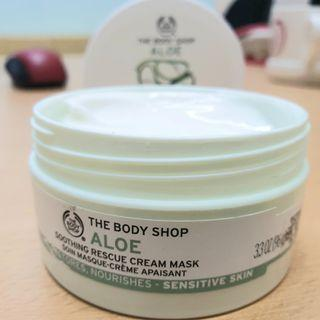 [PRELOVED] BODY SHOP ALOE SOOTHING RESCUE CREAM MASK