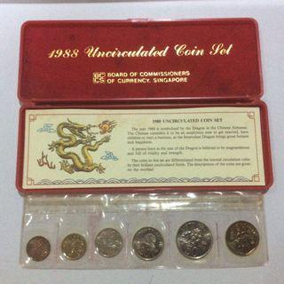 Singapore uncirculated coin set