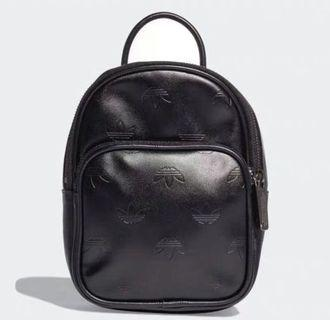 Adidas Black logo Mini Backpack
