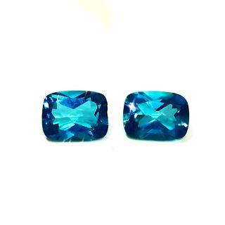 2 X 1.5ct Teal/ Turquoise Topaz