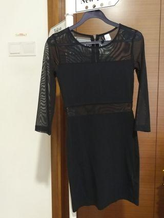 Black See-through Dress XS