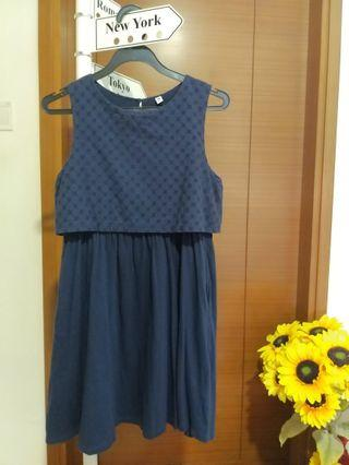 Uniqlo Navy Blue Dress (Girls size 150)