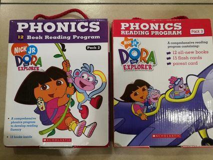 Dora the Explorer Phonics Reading Program Pack 2 & 3