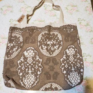 棉麻蕾絲實用袋