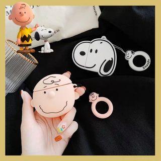 🚚 Japanese and Korean cartoon Charlie snoopy apple AirPod case