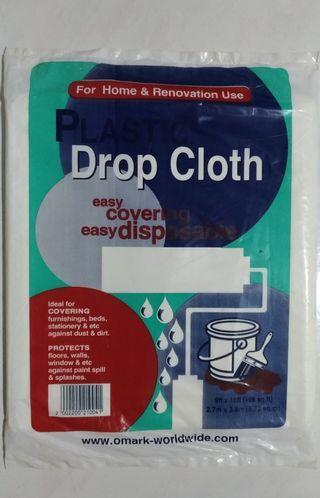 White Plasric Drop Cloth