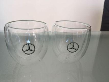 Mercedes-Benz Double Wall Glass cup