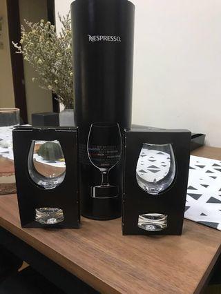 Nespresso 圍裙 加 水晶杯套裝